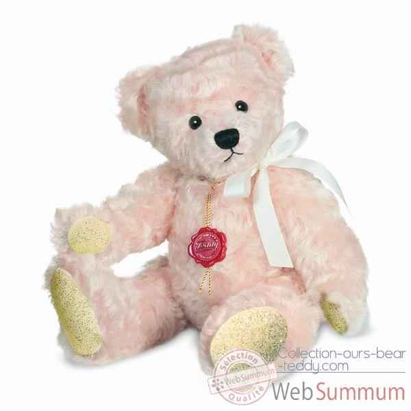 Peluche Ours crystal rose Hermann Teddy original 30cm 12330 9