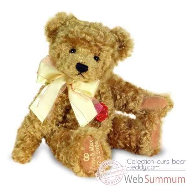Peluche Congratulation Teddy gold musical brahms wiegenlied Hermann Teddy original 36cm 12027 8