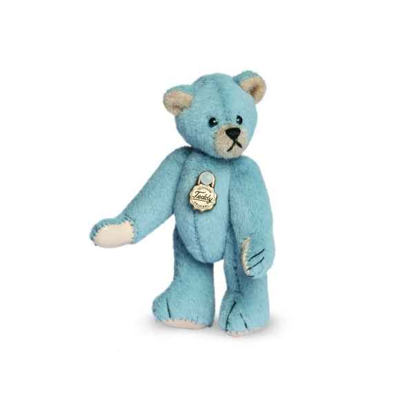 Mini ours teddy bear bleu clair 6 cm Hermann -15409 9