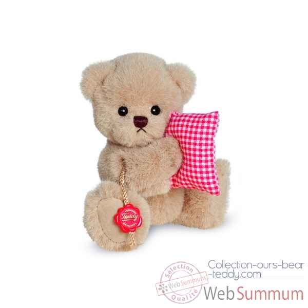Ours en peluche de collection mimi avec oreiller 16 cm hermann -17073 0