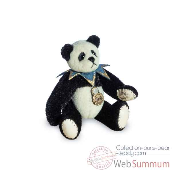 Ours en peluche de collection panda arlequin 6 cm hermann -15435 8
