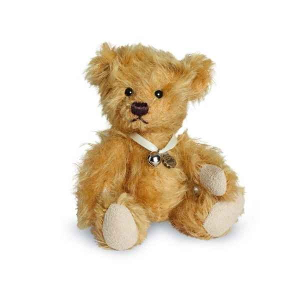Ours en peluche de collection teddy bebe dore 10 cm hermann -16000 7