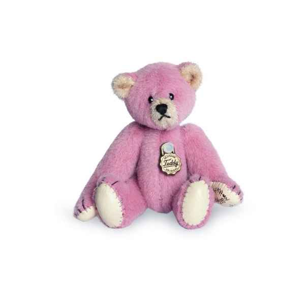 Ours en peluche de collection teddy rose 6 cm hermann -15413 6