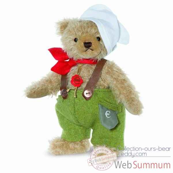 "Ours teddy bear ""deutscher michel\"" 24 cm hermann -17044 0"
