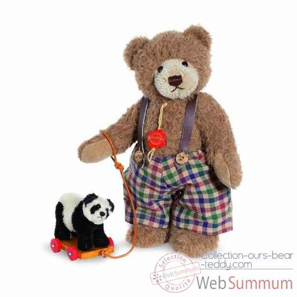 Ours teddy bear sigi with panda 24 cm hermann -17041 9