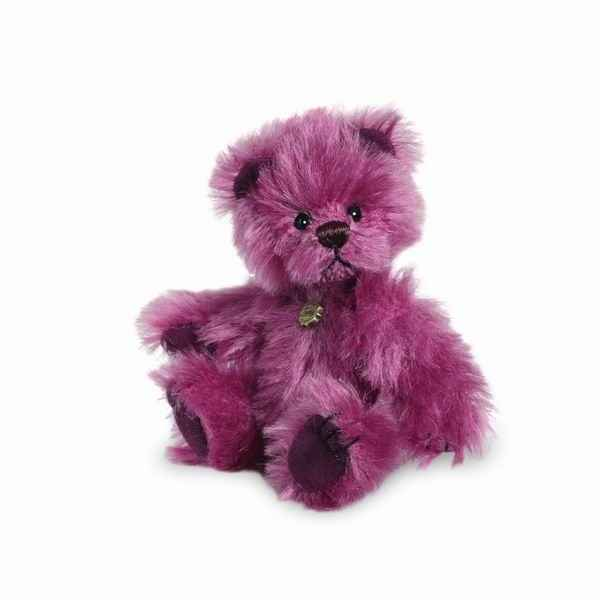 Peluche miniature ours violet 10 cm collection ed. limitee teddy hermann -15098 5