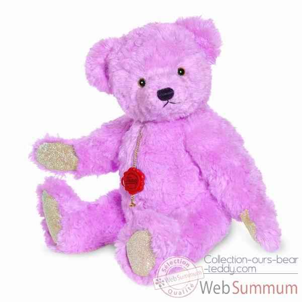 Peluche ourse teddy rose hyazintha 35 cm collection ed. limitee 200 ex. hermann -12326 2