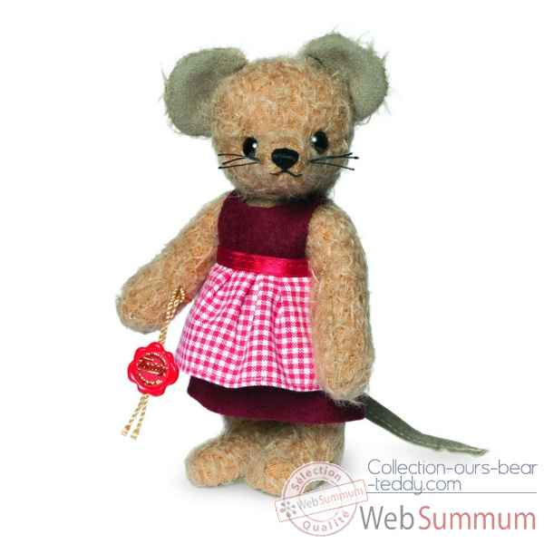 Teddy bear maman souris - mohair 17 cm Hermann -17002 0