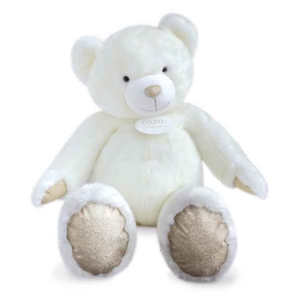 Peluche Ours collection 120 cm - blanc histoire d\'ours -DC3416