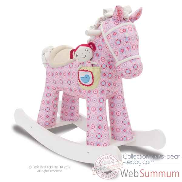 Cheval a bascule ruby & belle Little bird told me -LB3032