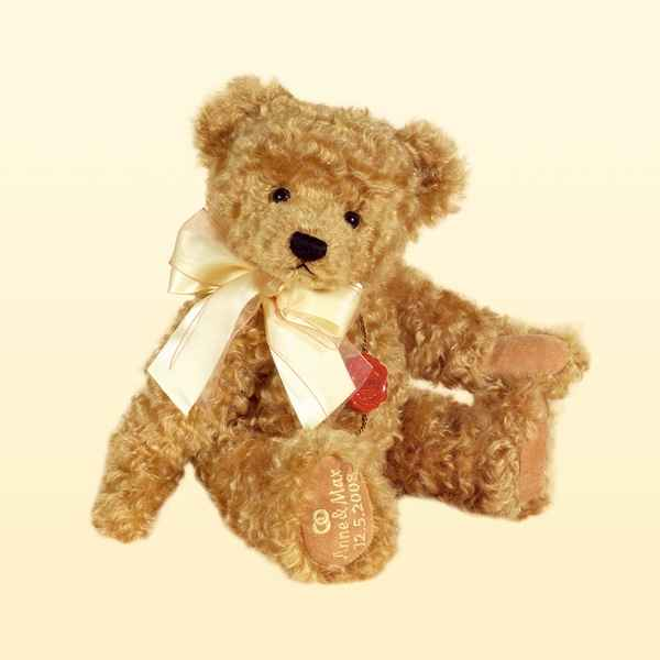 Peluche Hermann Teddy Original® Ours gold avec broderie -12025 4