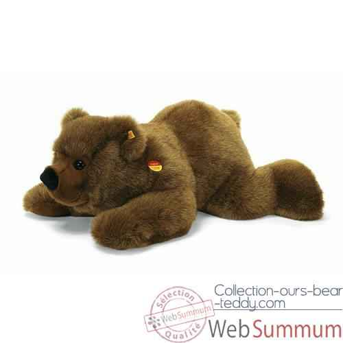 Video Peluche Steiff Ours brun Pummy couche -st069901