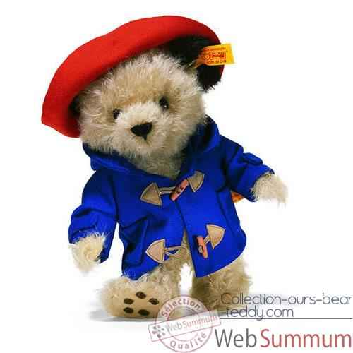 Video Peluche Steiff Ours Paddington mohair beige-354441