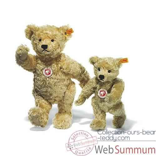 Video Peluche Steiff Ours Teddy 1920 mohair blond clair -st000669
