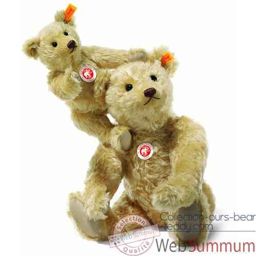 Video Peluche Steiff Ours Teddy mohair blond clair -st004247