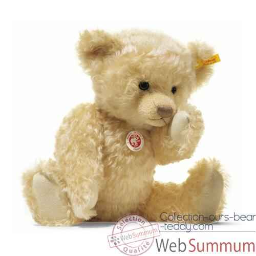 Video Peluche Steiff Ours Teddy mohair blond clair -st004292