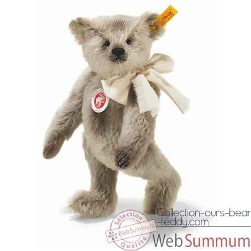 Video Peluche Steiff Ours Teddy mohair gris -st000577