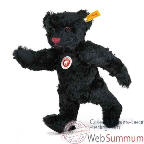 Video Peluche Steiff Ours Teddy mohair noir -st005985