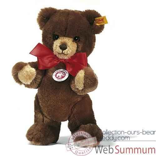 Video Peluche Steiff Ours Teddy Petsy brun -st012624