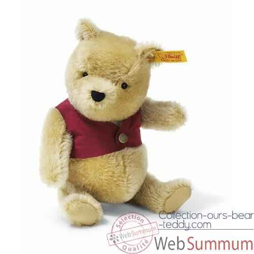 Video Peluche Steiff Winnie l'ourson mohair-354403