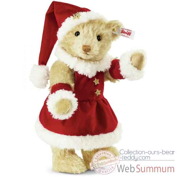 Ourse mrs santa claus teddy bear, vanille STEIFF -021381